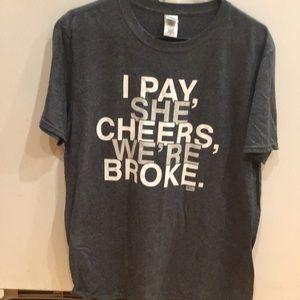 Women's cheer mom shirt large